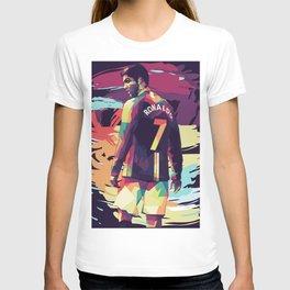 Ronaldo on WPAP Pop Art Portrait T-shirt