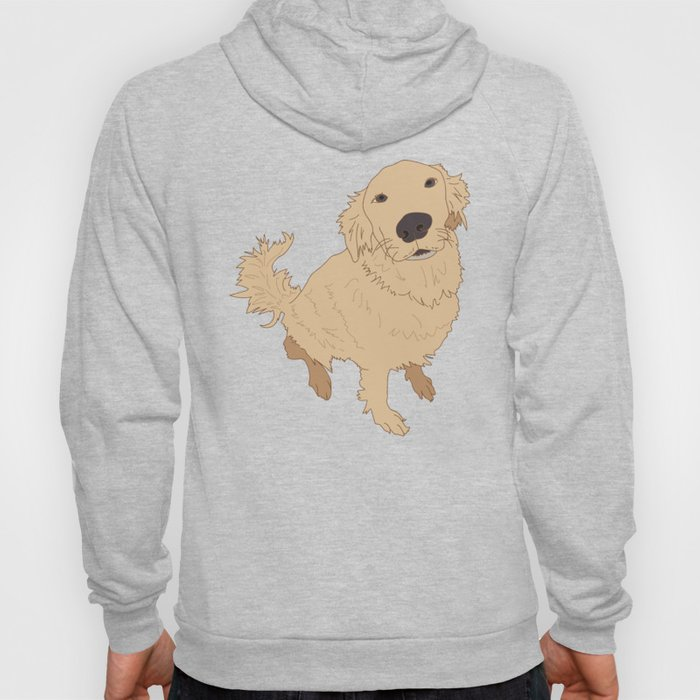 Golden Retriever Love Dog Illustrated Print Hoody