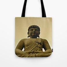 Buddha Prays Tote Bag