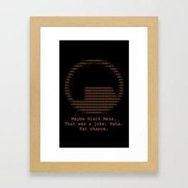 Black Mesa Framed Art Print