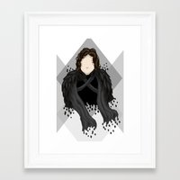 jon snow Framed Art Prints featuring Jon Snow by itsamoose