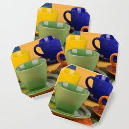 Colorful tea cups Coaster