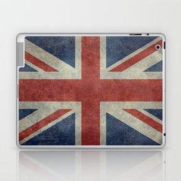 UK Flag, Dark grunge 1:2 scale Laptop & iPad Skin