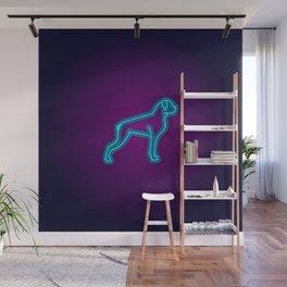 NEON BOXER DOG Wall Mural