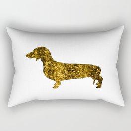 I LOVE my Dachshund II - Luxury glitter dog design Rectangular Pillow