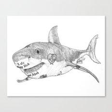 Shark Prank Canvas Print