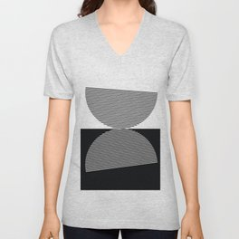Abstract - Black and White Unisex V-Neck