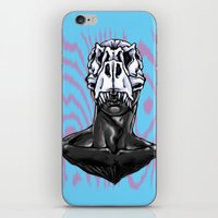 trex iPhone & iPod Skins featuring TREX: MALE by Marques Cannon