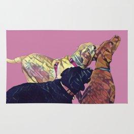 Three Amigos II in pink Rug