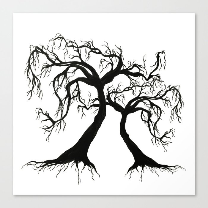 Twisted Trees  Canvas Print