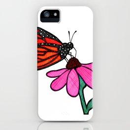 Cross-Hatch Monarch iPhone Case