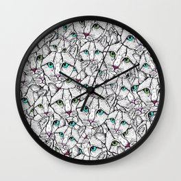 All the Pussies Wall Clock