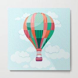 Hot air balloon in the sky Metal Print