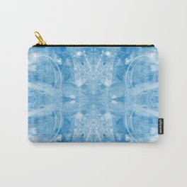 Four Circle Blue Carry-All Pouch