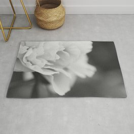 Peony in Black and White Rug
