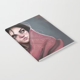 Wild Girl in the cold night Notebook