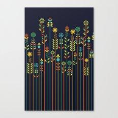 Overgrown flowers Canvas Print