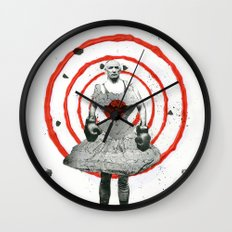 Woman with stones Wall Clock