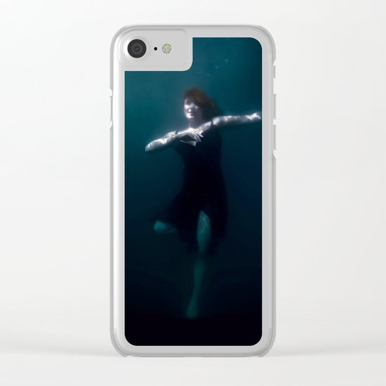 Dancing Under The Water Clear iPhone Case