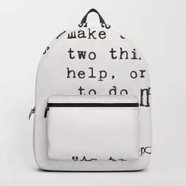 Hippocrates quote Backpack