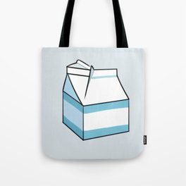 Milk Carton Light Blue Tote Bag