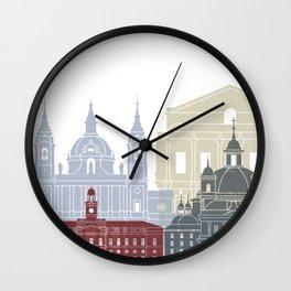 Madrid V2 skyline poster Wall Clock