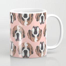 St. Bernard in Pink Coffee Mug
