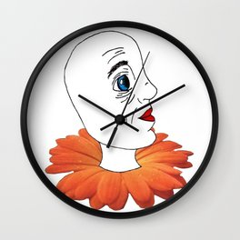 Human/Flower Wall Clock