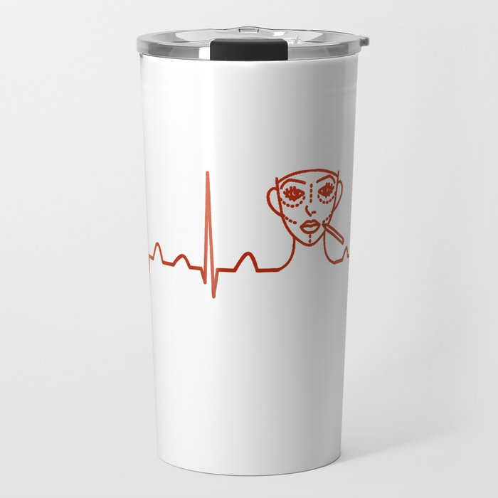 Plastic Surgeon Heartbeat Travel Mug