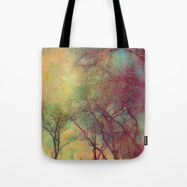 Tree Silhouette, Autumn Sunset Tote Bag