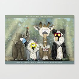 Vultures undercover Canvas Print