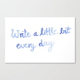 Writing motivation #2 Canvas Print