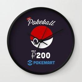 Pokeball Mart Wall Clock