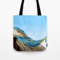 wesley bird Tote Bags featuring BIRD by John Aslarona