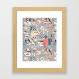 Tea Spirit pattern Framed Art Print