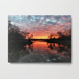 Sunset Over Lake-II Metal Print