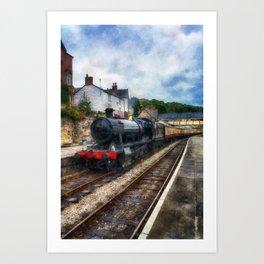 Steam Train Journey Art Print