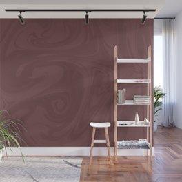Pantone Red Pear Abstract Fluid Art Swirl Pattern Wall Mural