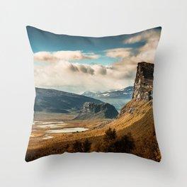 Brown Mountain Throw Pillow