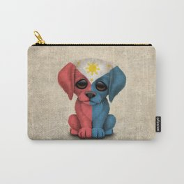 Cute Puppy Dog with flag of The Philippines Carry-All Pouch