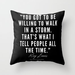 34 | Ray Lewis Quotes 190511 Throw Pillow