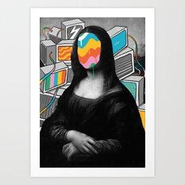 Mona Lisa Meltdown Art Print