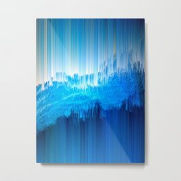 Rhythmic - Abstract Pixel Art Metal Print