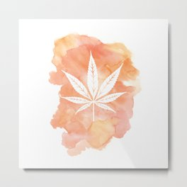 One Love: Coral Metal Print