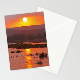 Early morning in Africa Stationery Cards