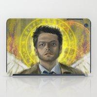 castiel iPad Cases featuring Castiel by Paulo Fodra