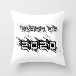 Class of 2020 scribbles Throw Pillow