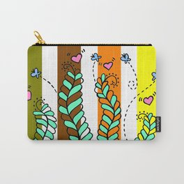 Vines Swaying in the Breeze with Stripes Carry-All Pouch