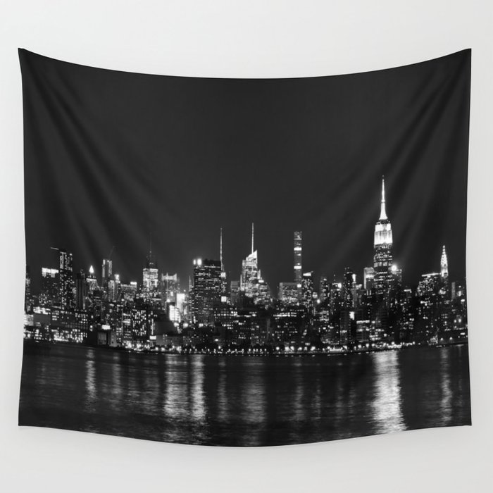 New York Skyline Wall Tapestry By Nexart