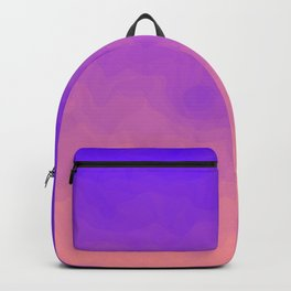 Pink and Purple Ombre - Swirly - Flipped Backpack